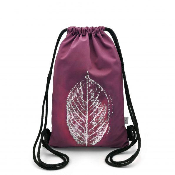 ruksak bacpack DESIGNOVO leaf list bordova burgundy softshell