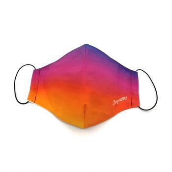 designovo ochranne rusko so striebrom instagram gradient facemask multicolour